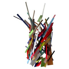 American Modern Abstract Expressionist Mixed Media Sculpture, Moshe Y
