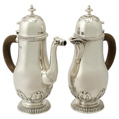 Antique Sterling Silver Café Au Lait Set