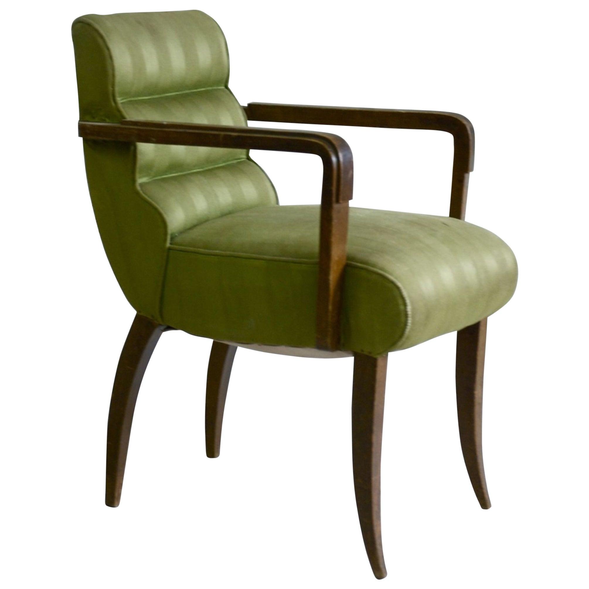 Rene Prou Pair of Petite Scale Armchairs