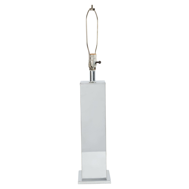 American Midcentury Chrome Table Lamp