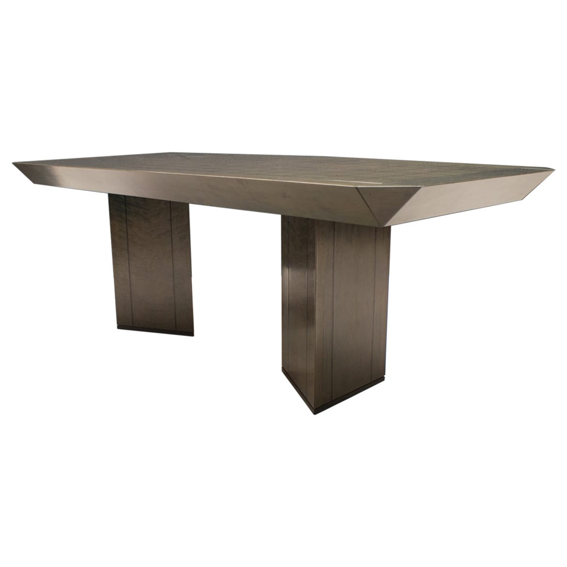 Saporiti Dining Table in Bird's-Eye Maple by Giovanni Offredi
