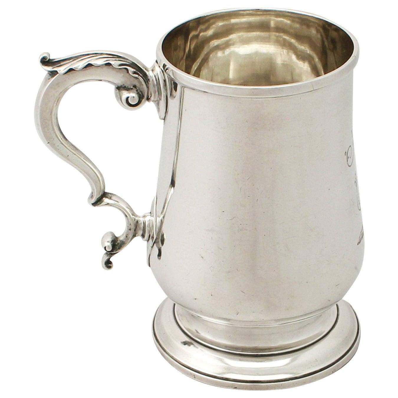 Antique Georgian English Sterling Silver Pint Mug