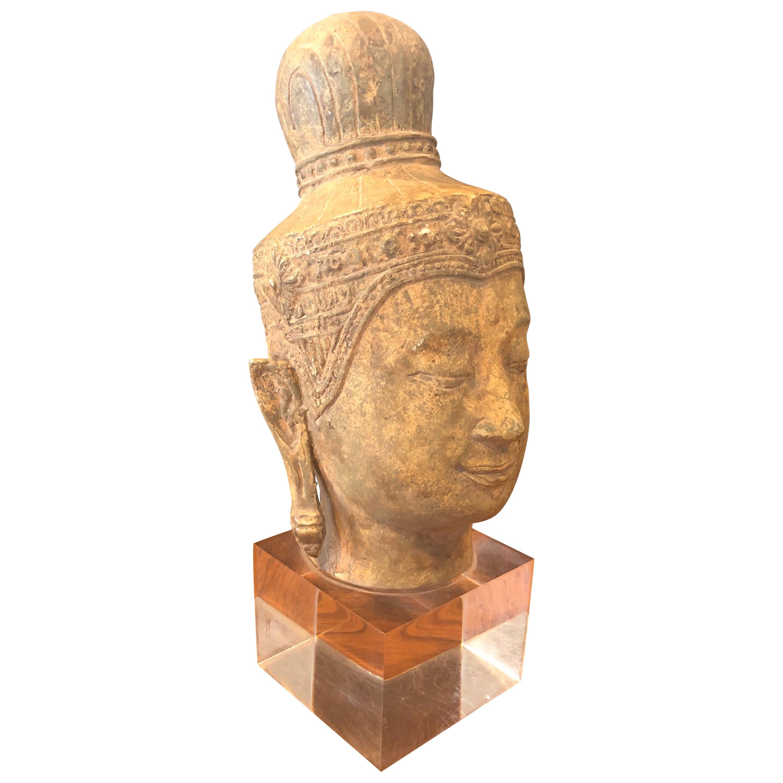 Buddha Head / Bust on Lucite Base