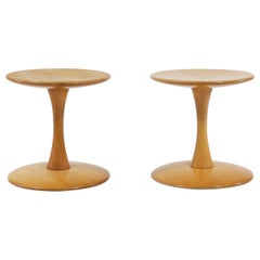 "Danish Modern Side Tables or Stools by Nanna Ditzel ""Toadstools"" in Beech, 1962"
