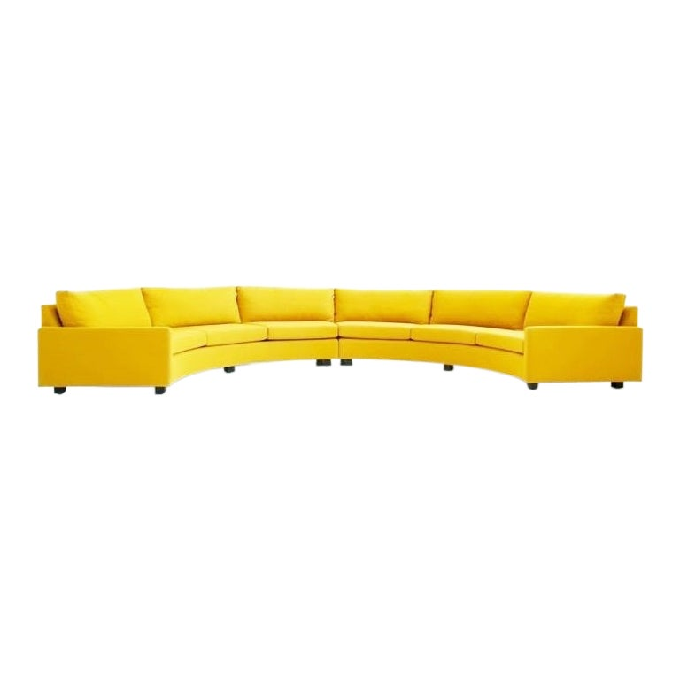 Large Half Circle Sectional Sofa by Milo Baughman for Thayer Coggin