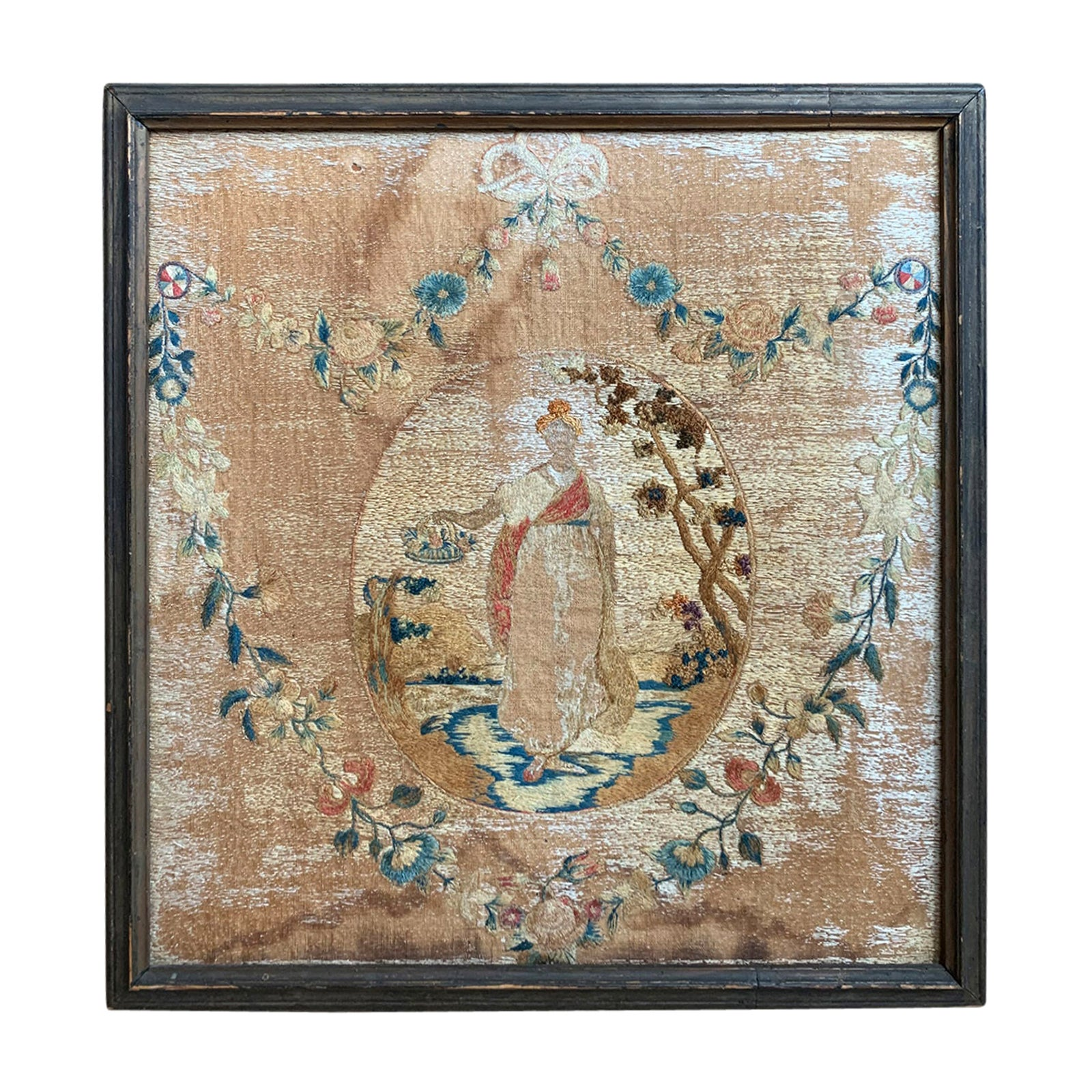 19th Century English Framed Needlework