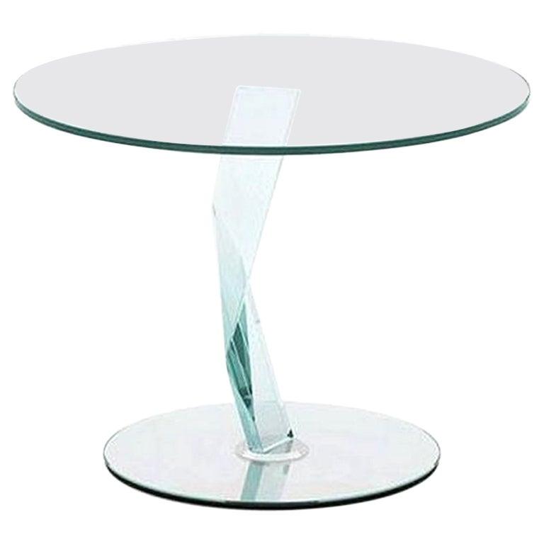 Bakkarat Glass Side Table by Donato D'Urbino & Paolo Lomazzi, Made in Italy