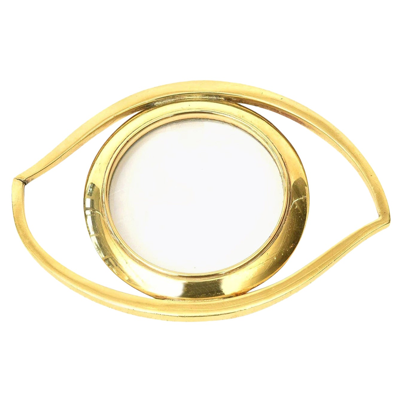 Hermès Eye of Cleopatra Magnifier Desk Accessory or Paperweight, Vintage