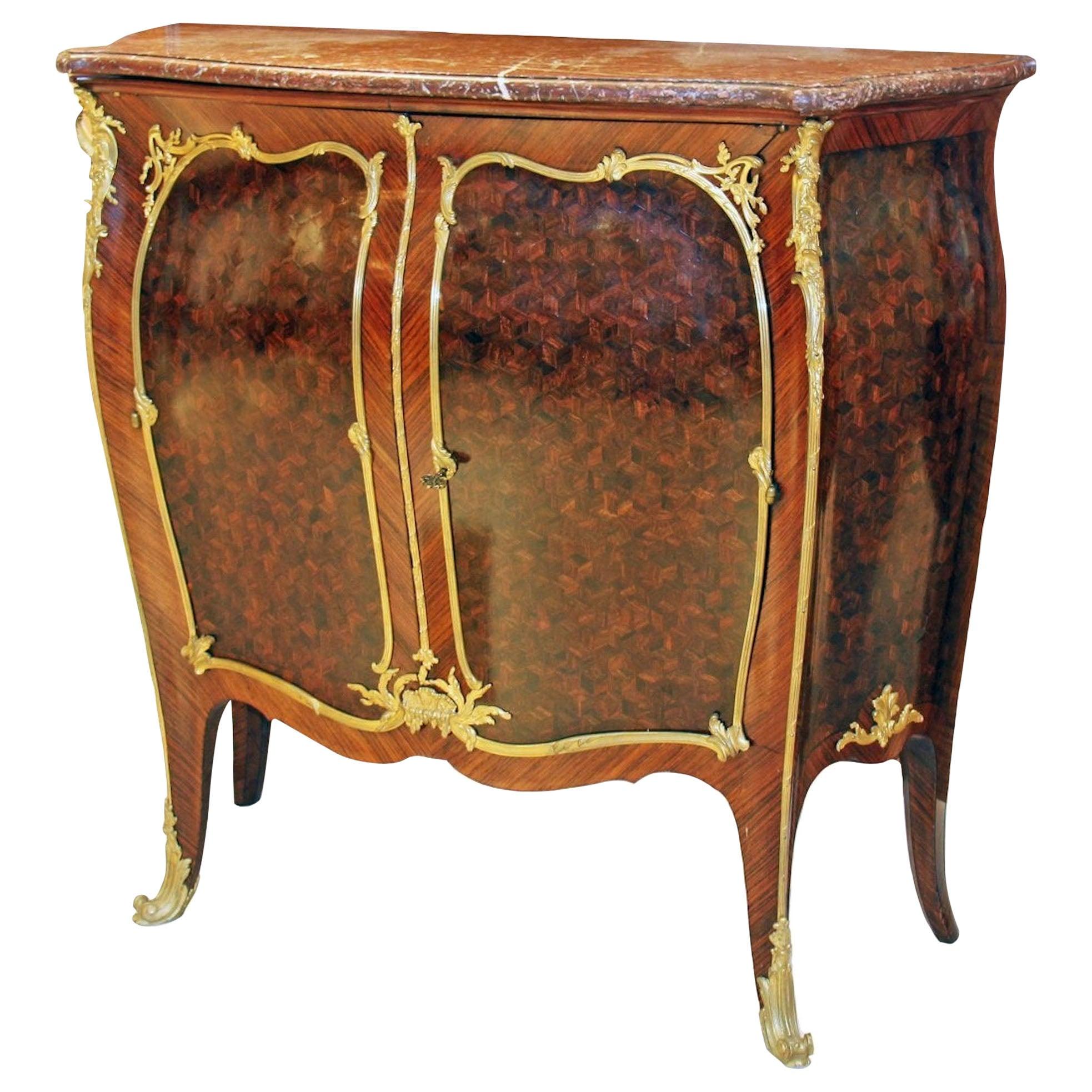 Louis XV Style Kingwood Side Cabinet by Francois Linke Paris, circa 1900