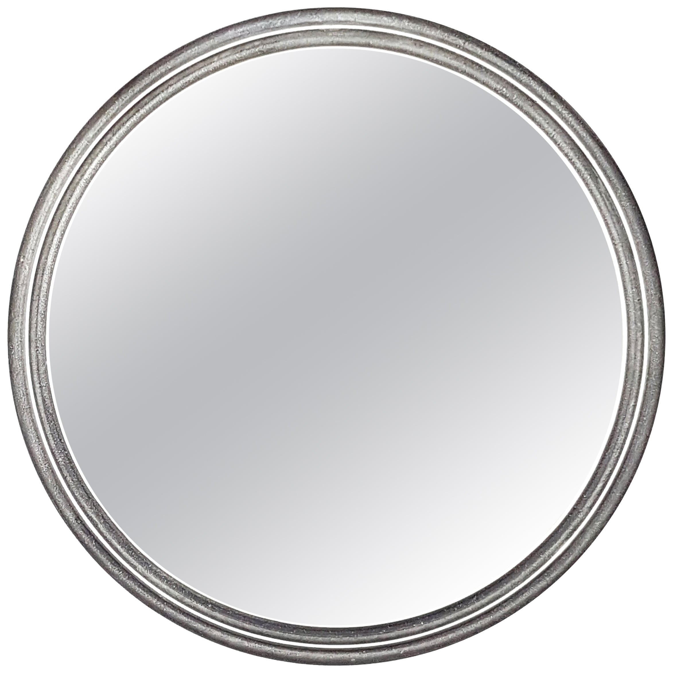 Cast Aluminium Round 1970s Mirror, Lorenzo Burchiellaro for Studio Burchiellaro