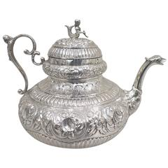 Mid-18th Century Antique Sterling 925/°°° Silver Dutch Teapot