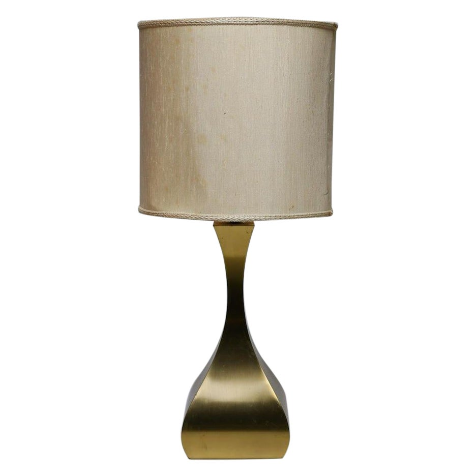 Vintage Brass Table Lamp, Italy, 1970s