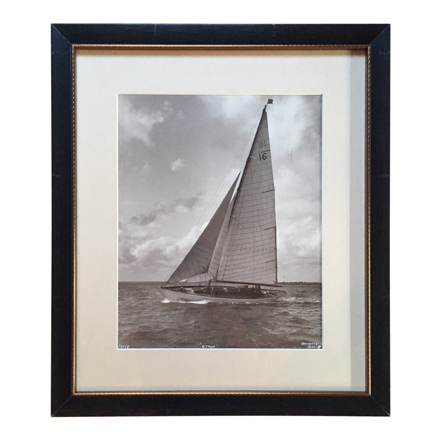 Original Photograph of a Yacht by Beken of Cowes, circa 1920