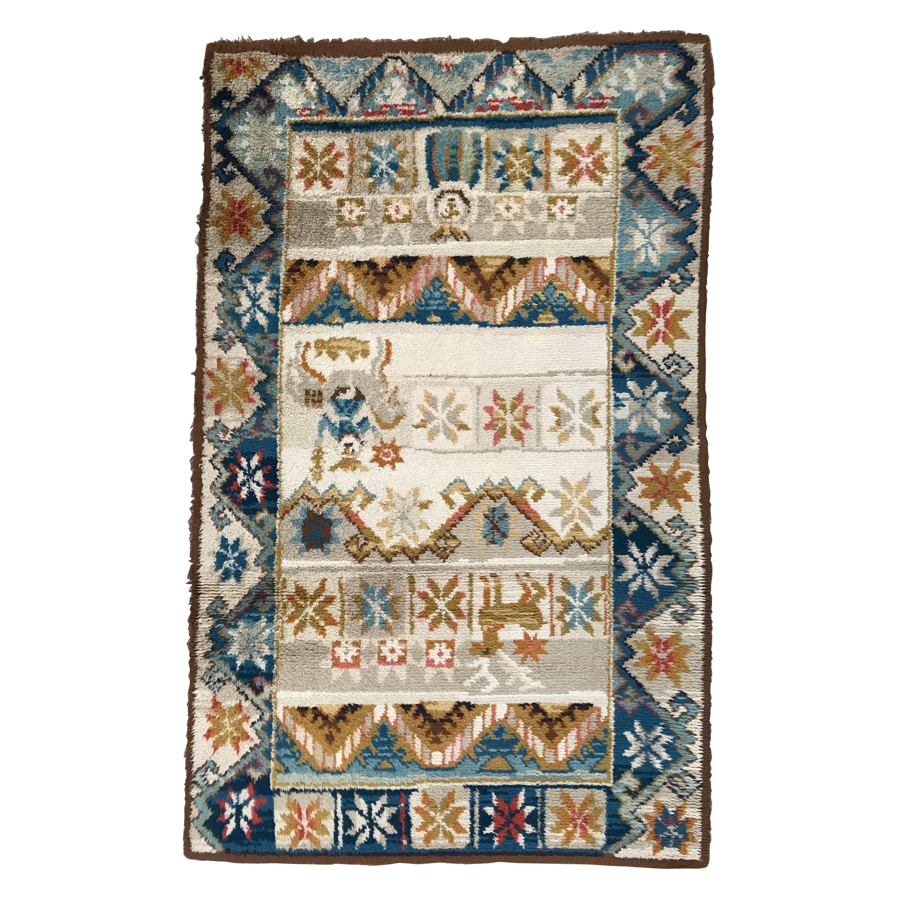 Vintage Scandinavian Art Deco Design Rug