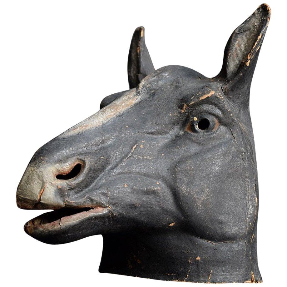 French Papier Mâché Theatre Horse Head from Paris, circa 1950s
