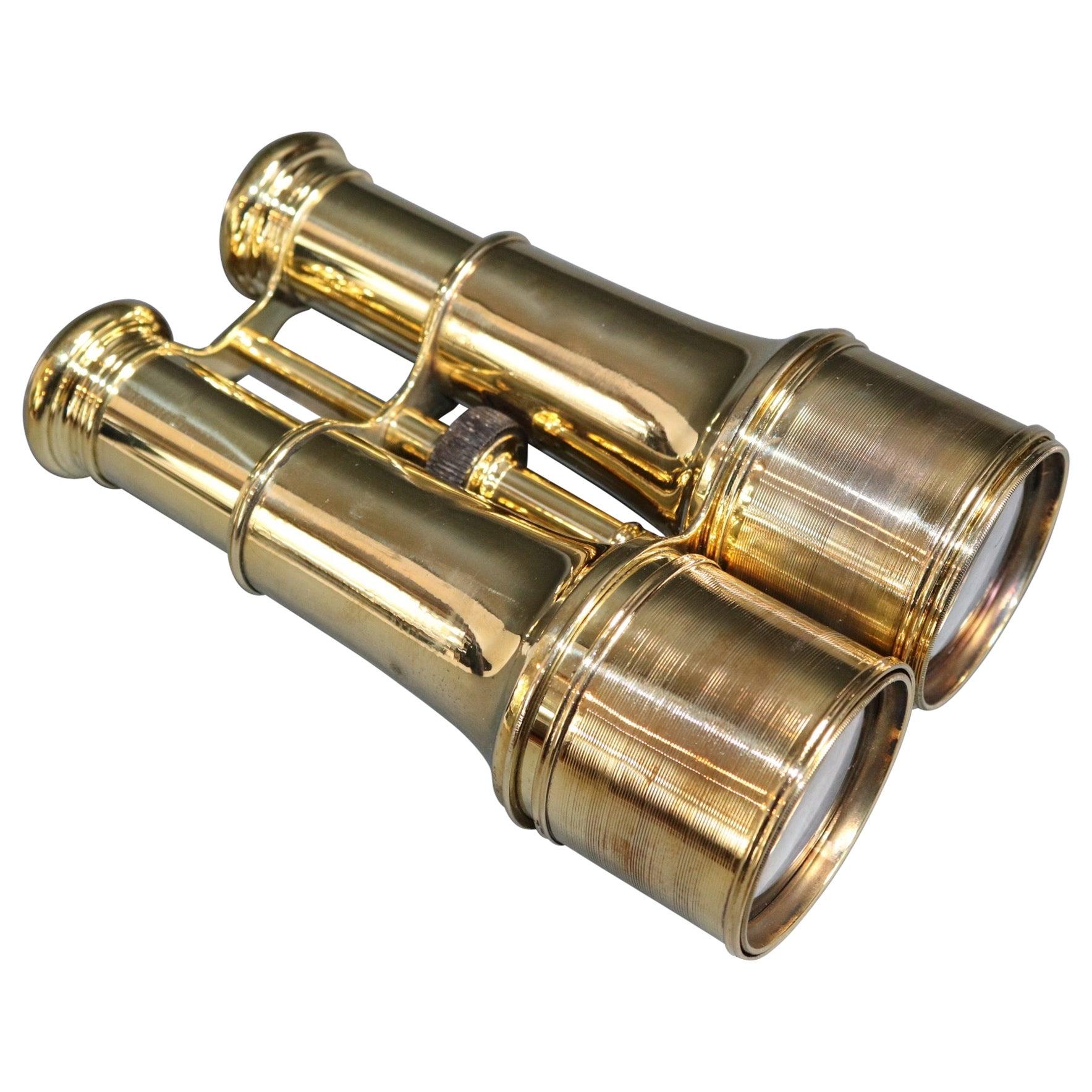 French Made Brass Yachting Binoculars