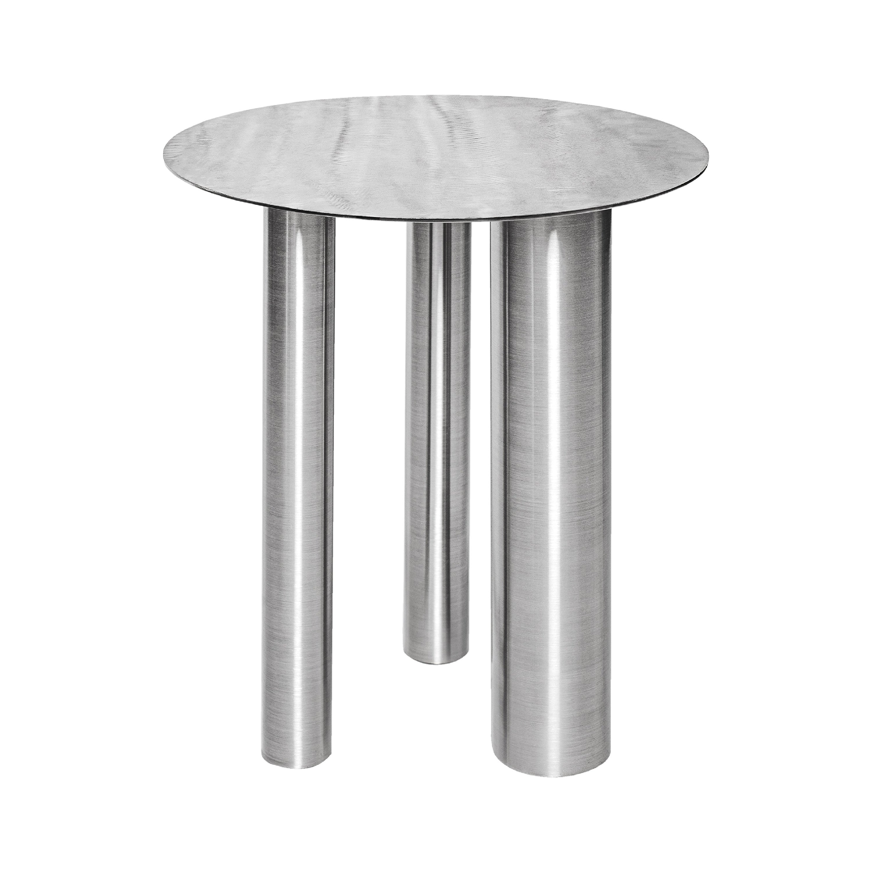 High Coffee Table Brandt CS1 made of stainless steel by NOOM