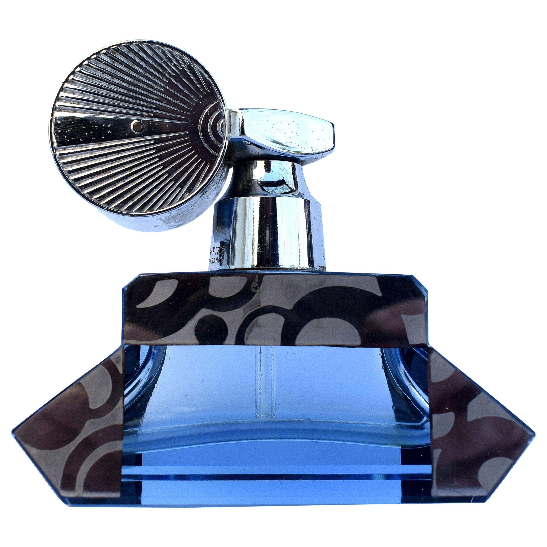 Art Deco Streamline Perfume Bottle, 1930s