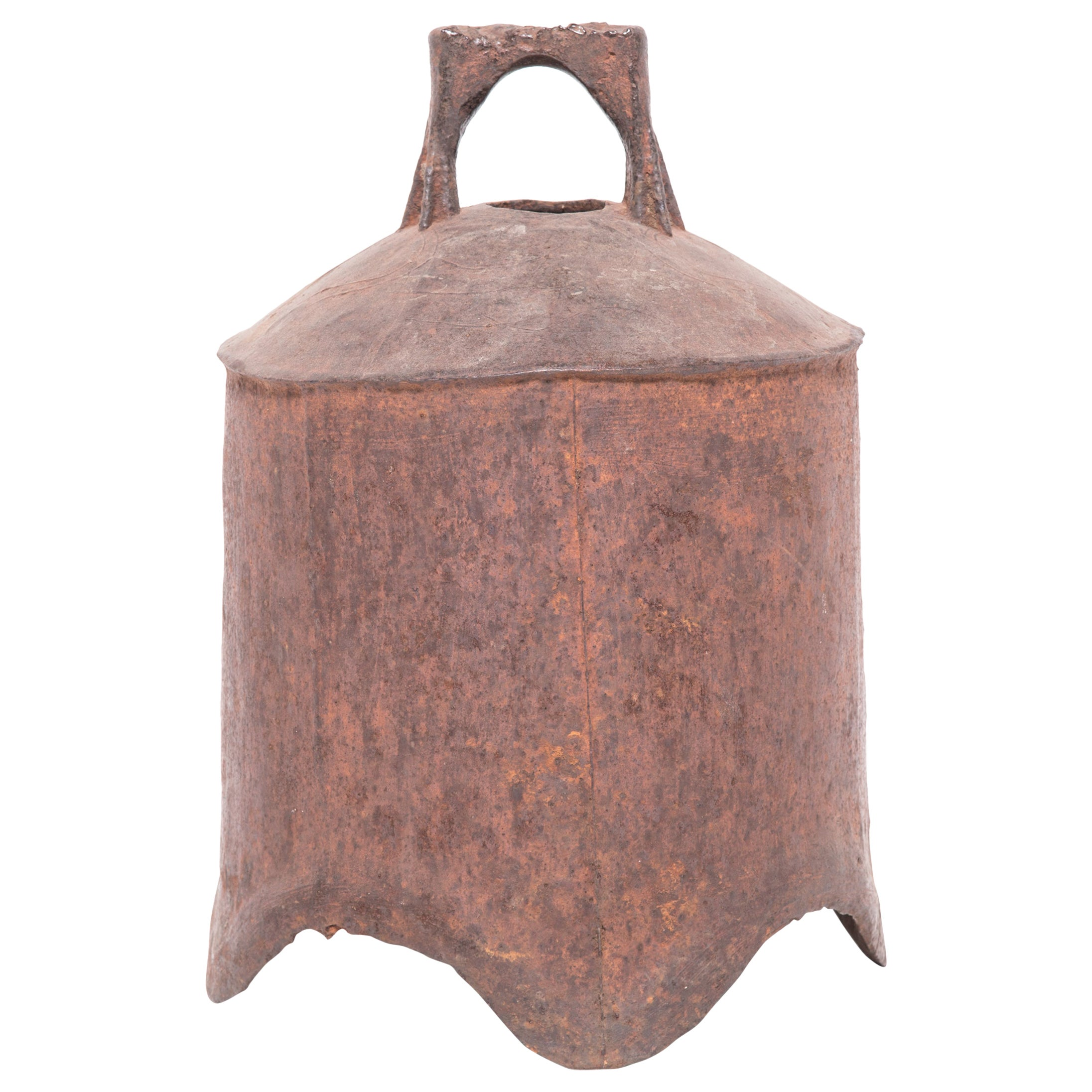 19th Century Provincial Chinese Iron Bell