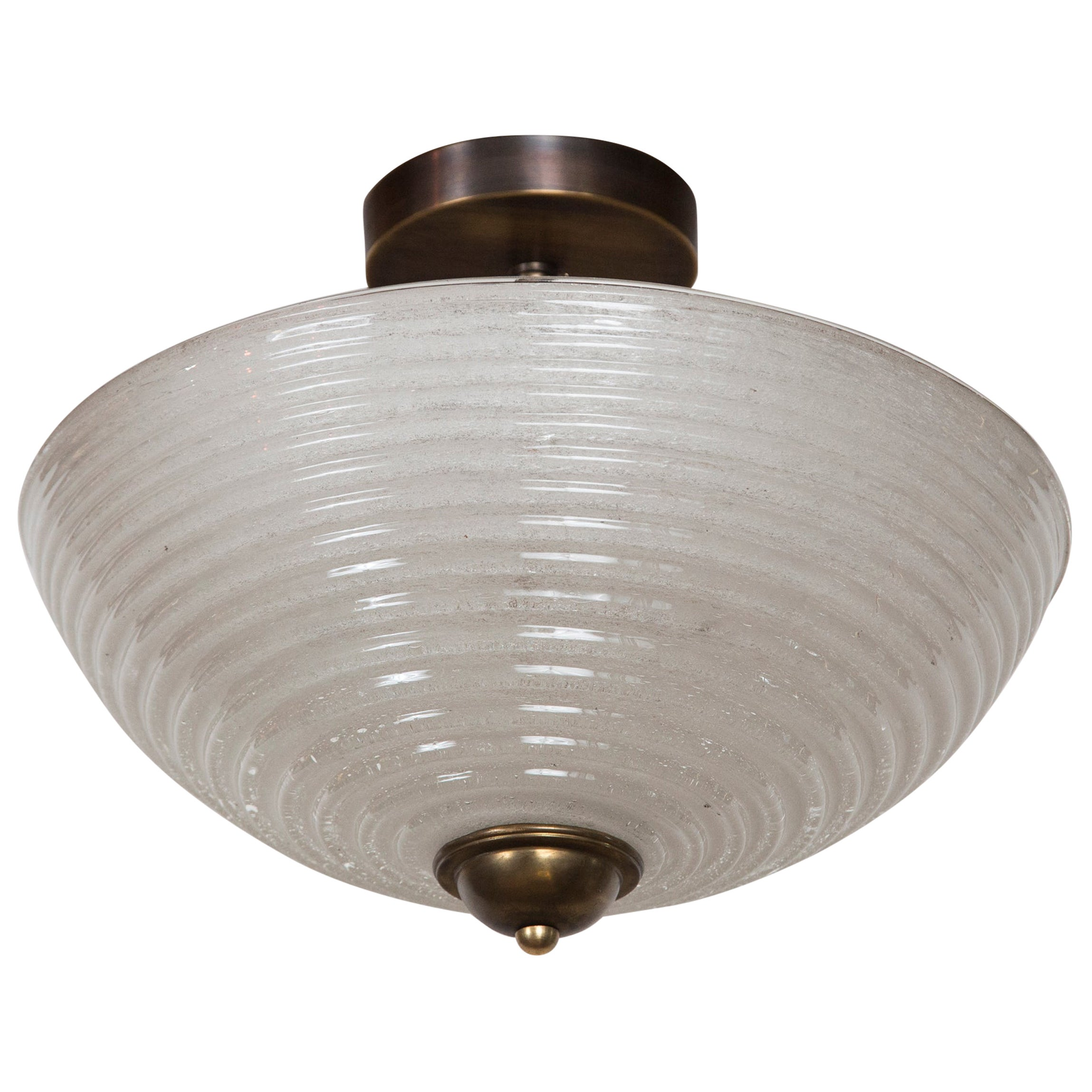 Set of 4 Mid Century Venini Ceiling Fixtures, Priced Individually