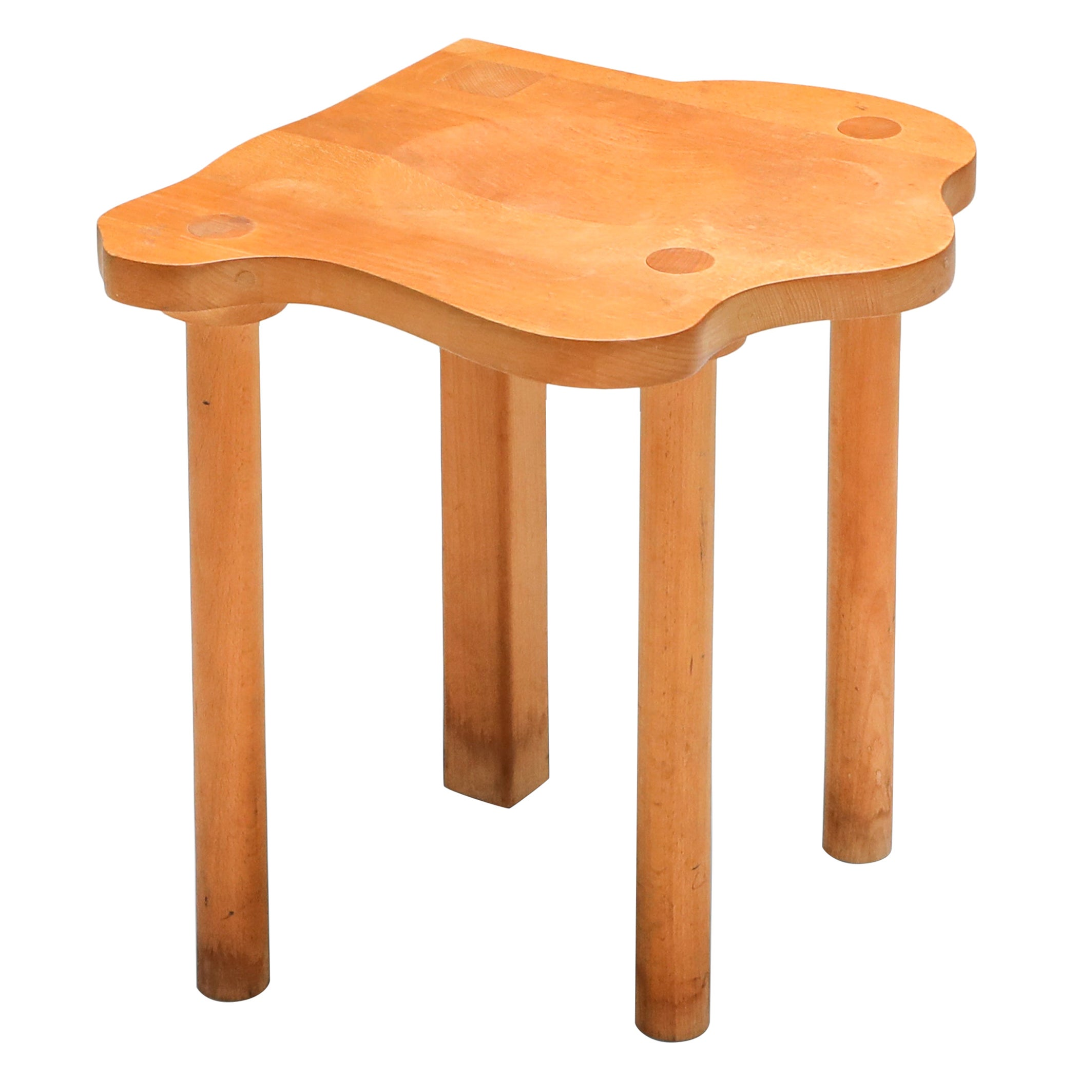 Wood Stool by E.R.A. Herbst