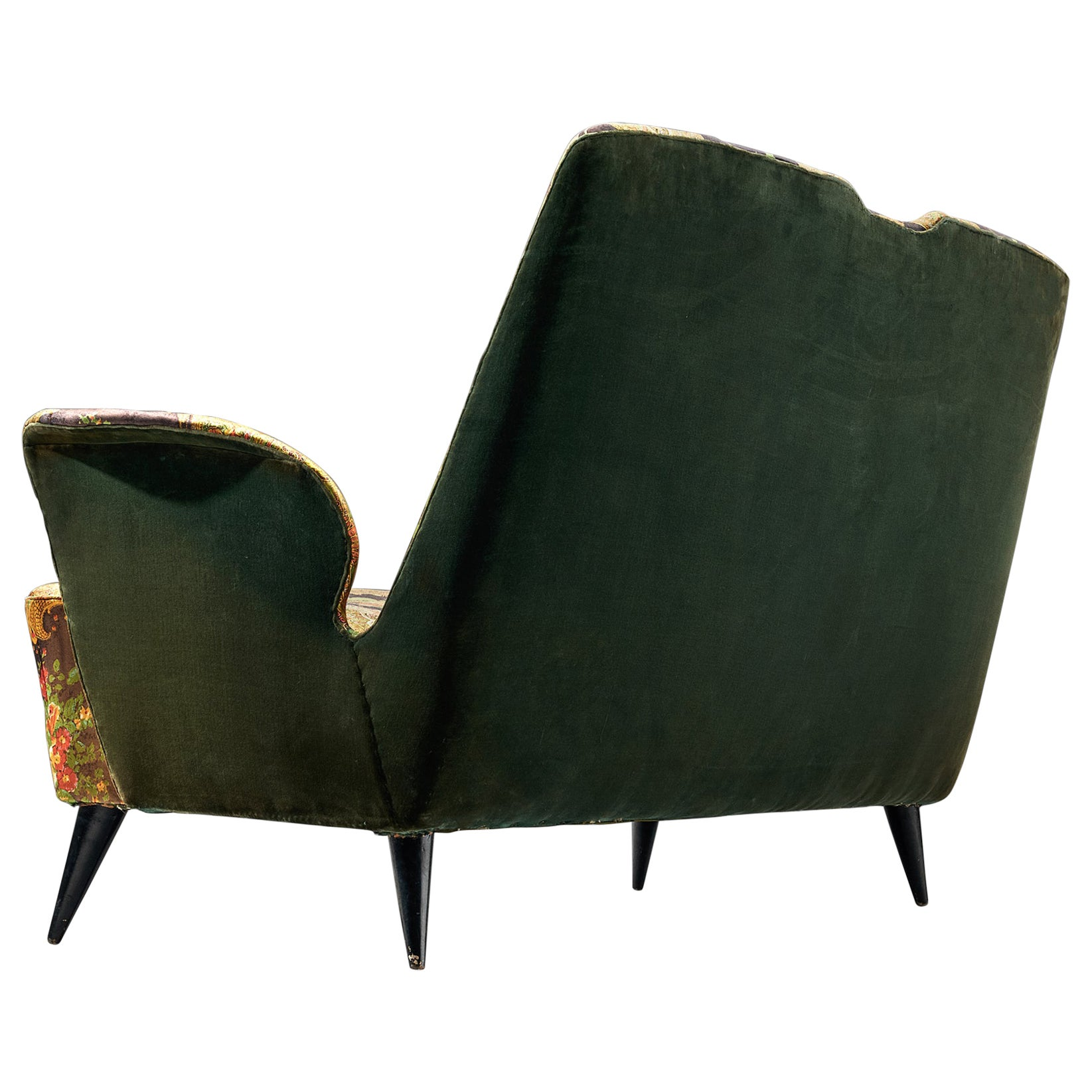 Italian Two-Seat Sofa with Curved Armrests