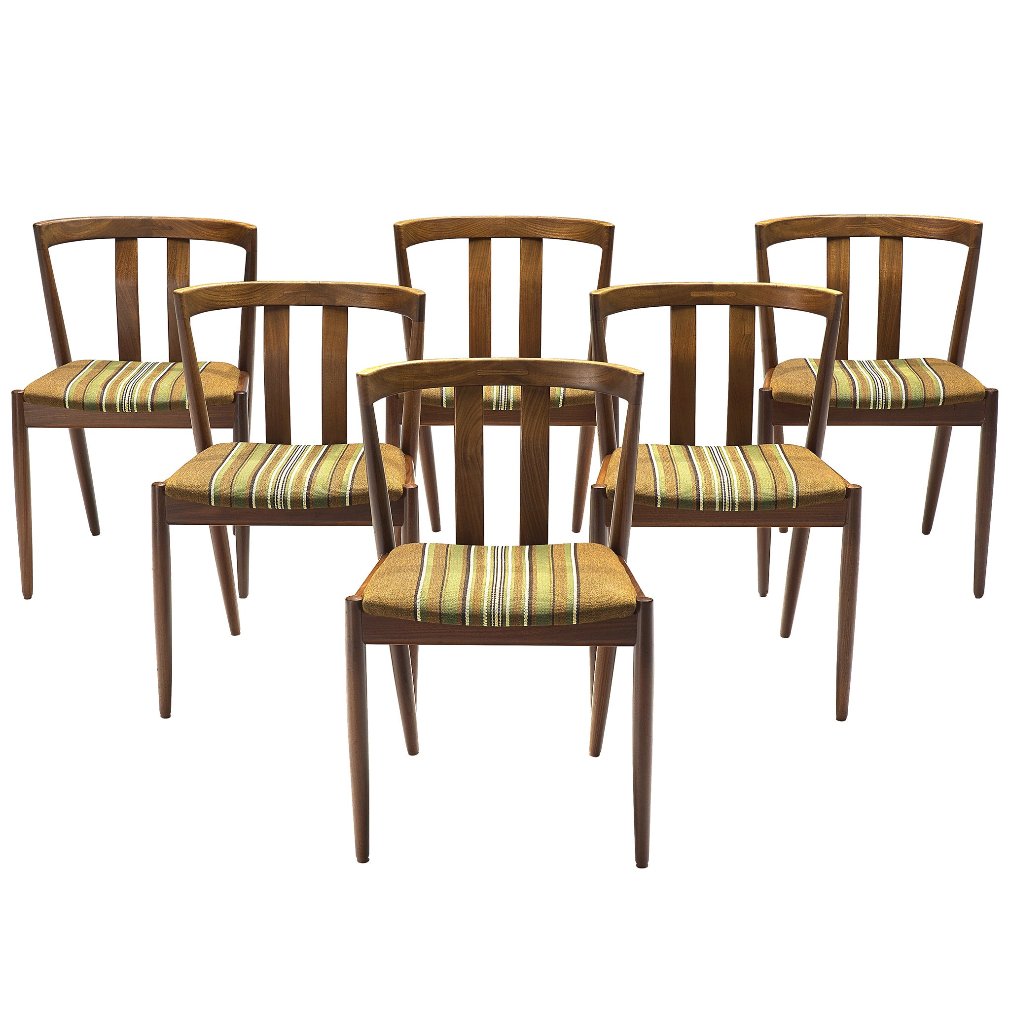 Danish Set of Six Teak Dining Chairs, 1960s