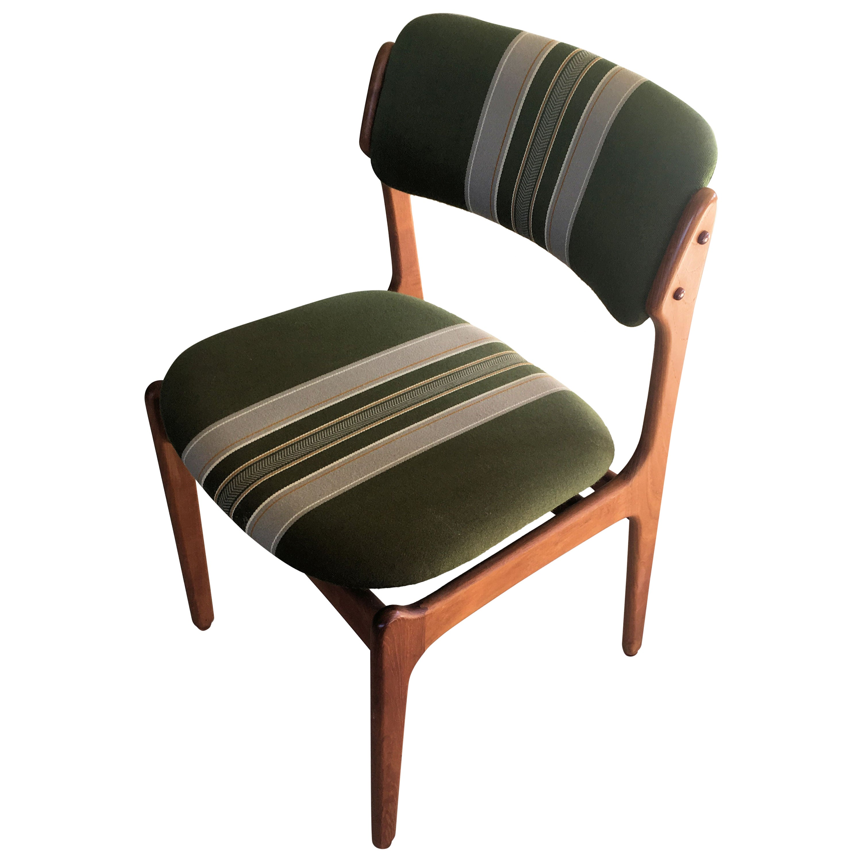 1960s Erik Buch Teak Dining Chairs, Inc. Reupholstery