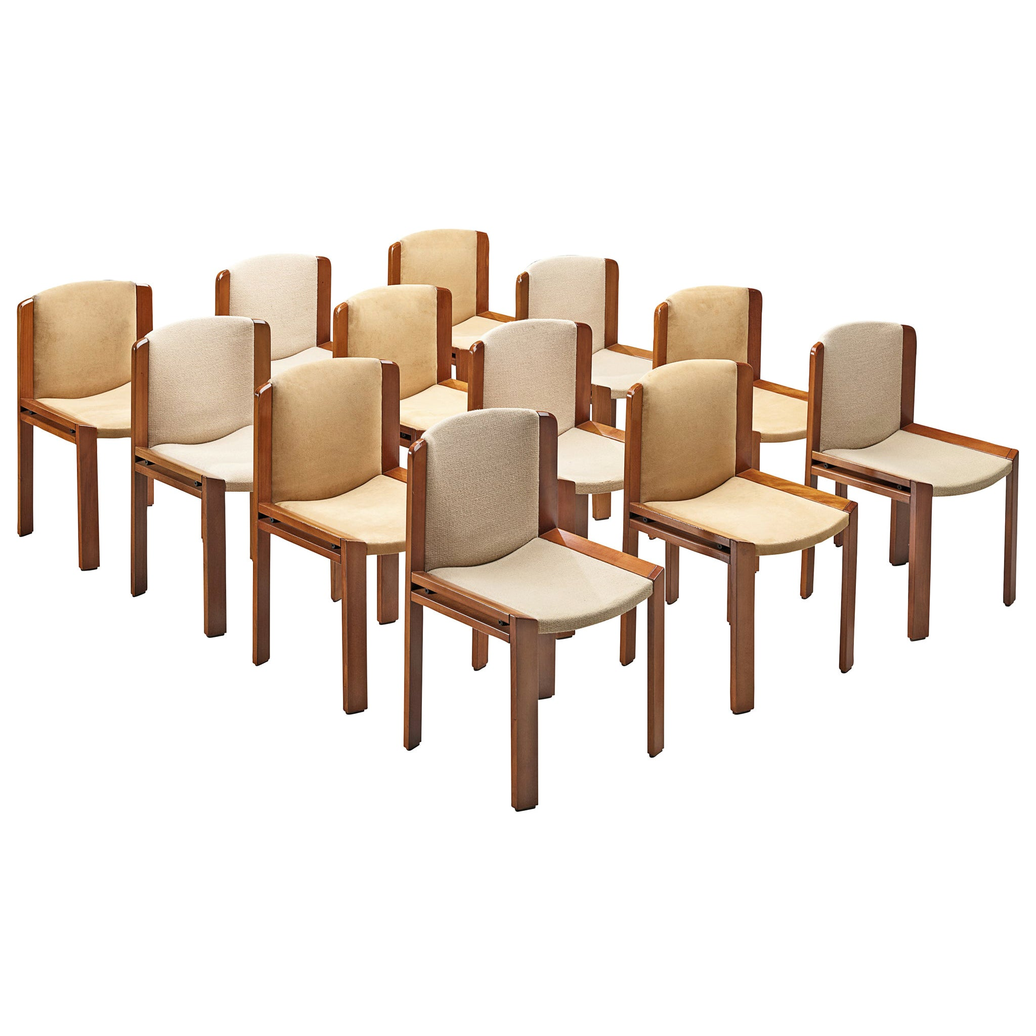 Set of Twelve Joe Colombo '300' Dining Chairs