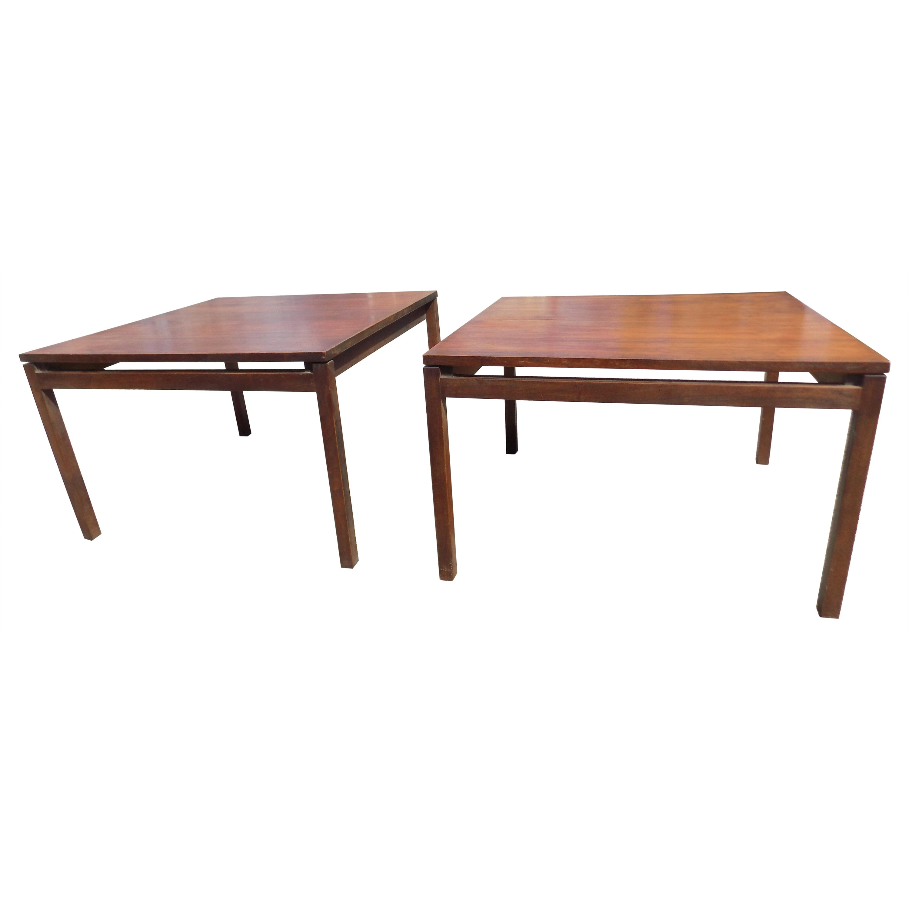 Pair of Rosewood Mid-Century Modern Knoll End or Coffee Tables