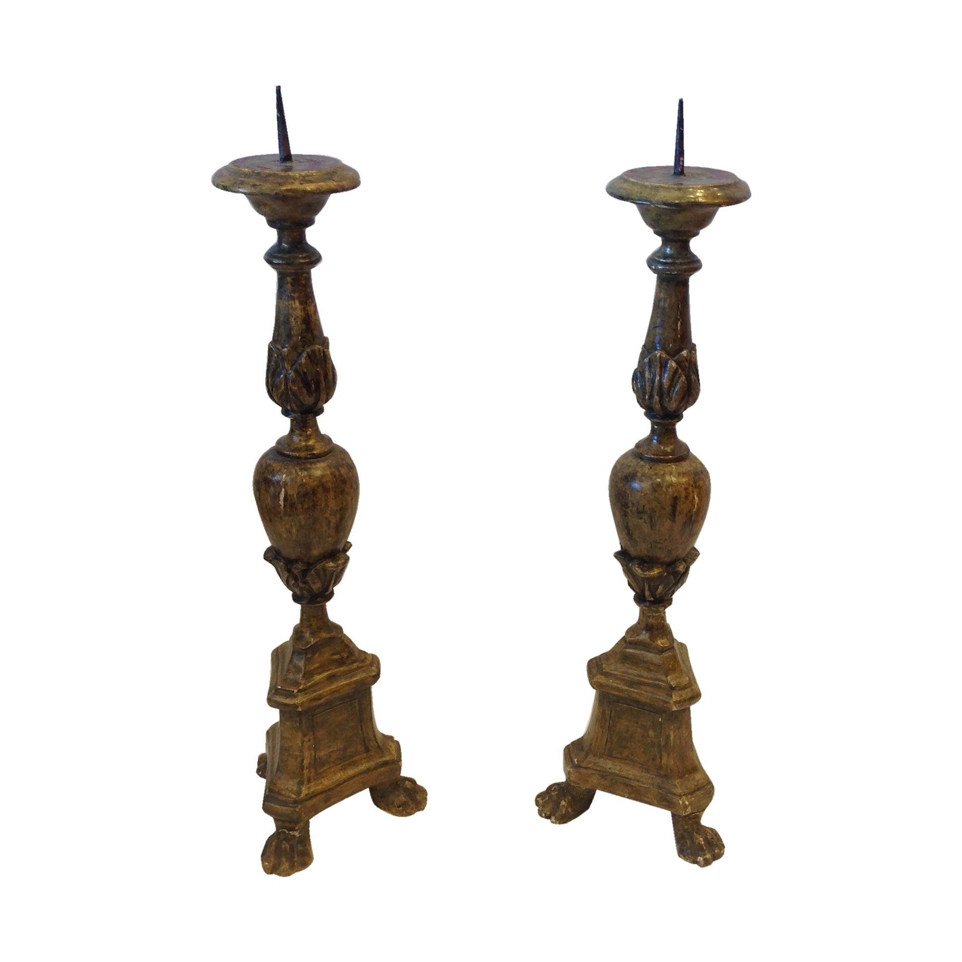 Pair of 19th Century Italian Pricket Sticks