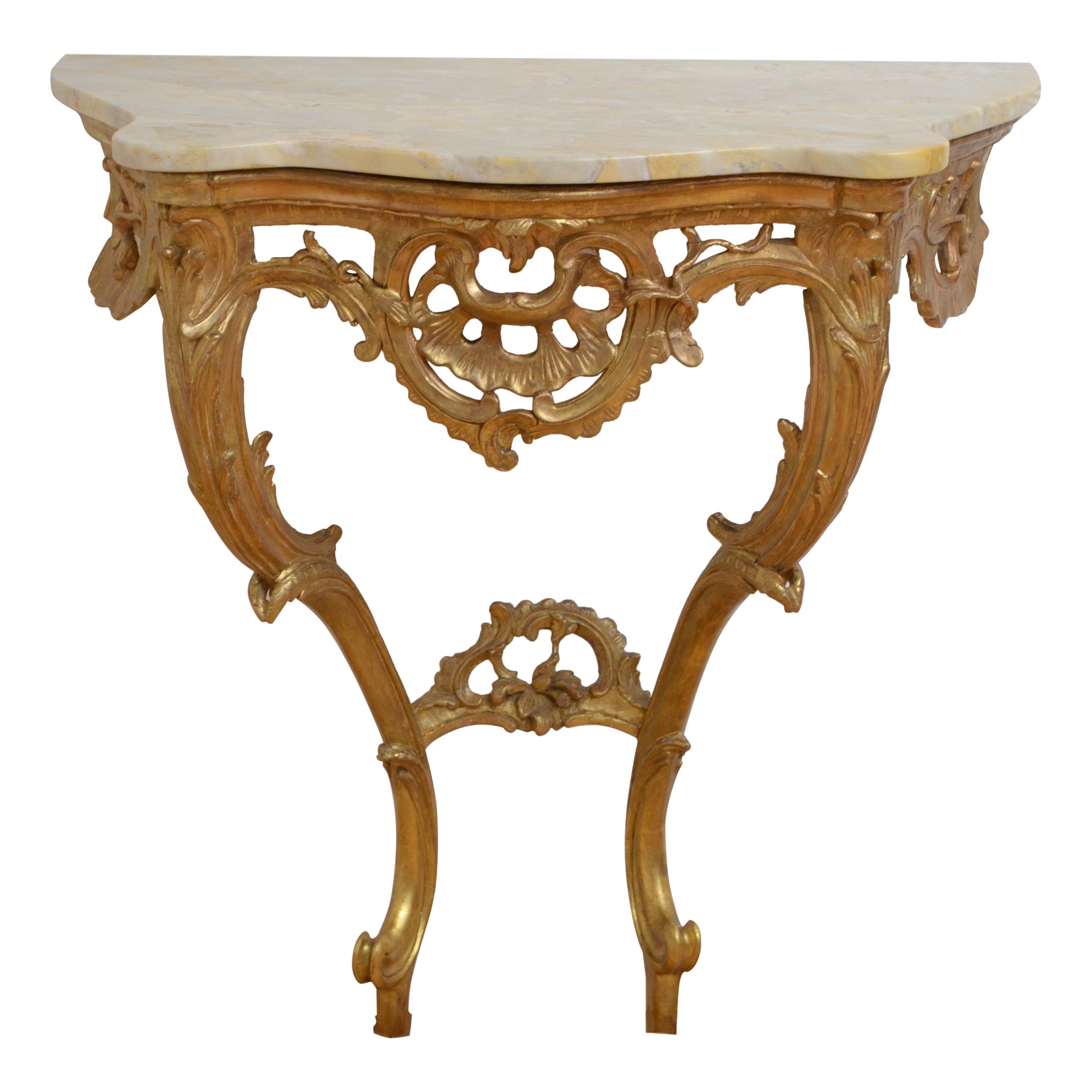 Early 19th Century Giltwood Console Table Hall Table