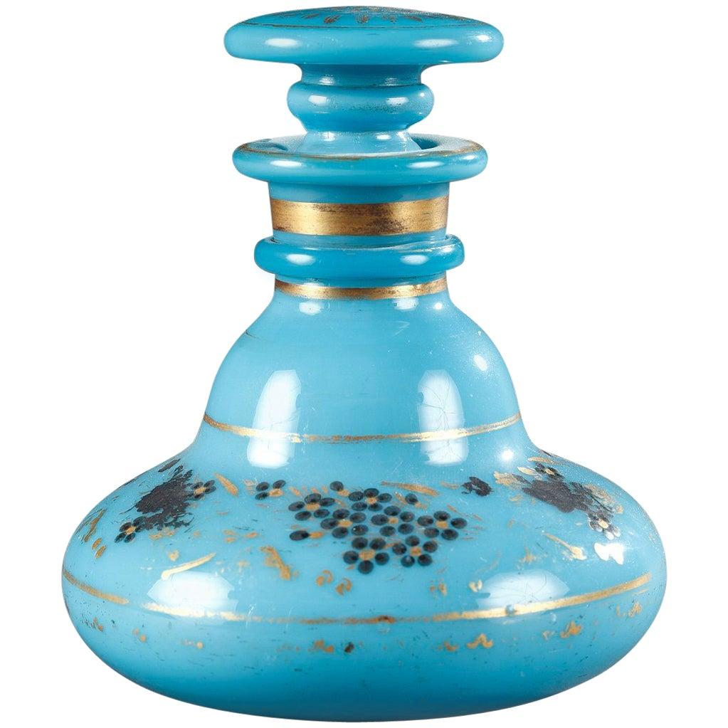 Charles X Blue Opaline Perfum Bottle