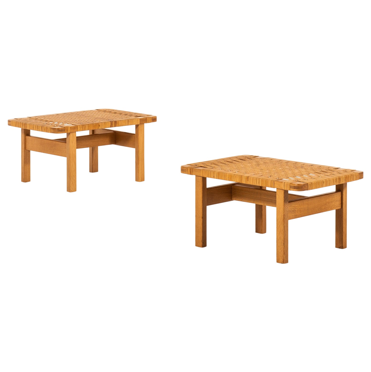 Børge Mogensen Side Tables by Fredericia Stolefabrik in Denmark