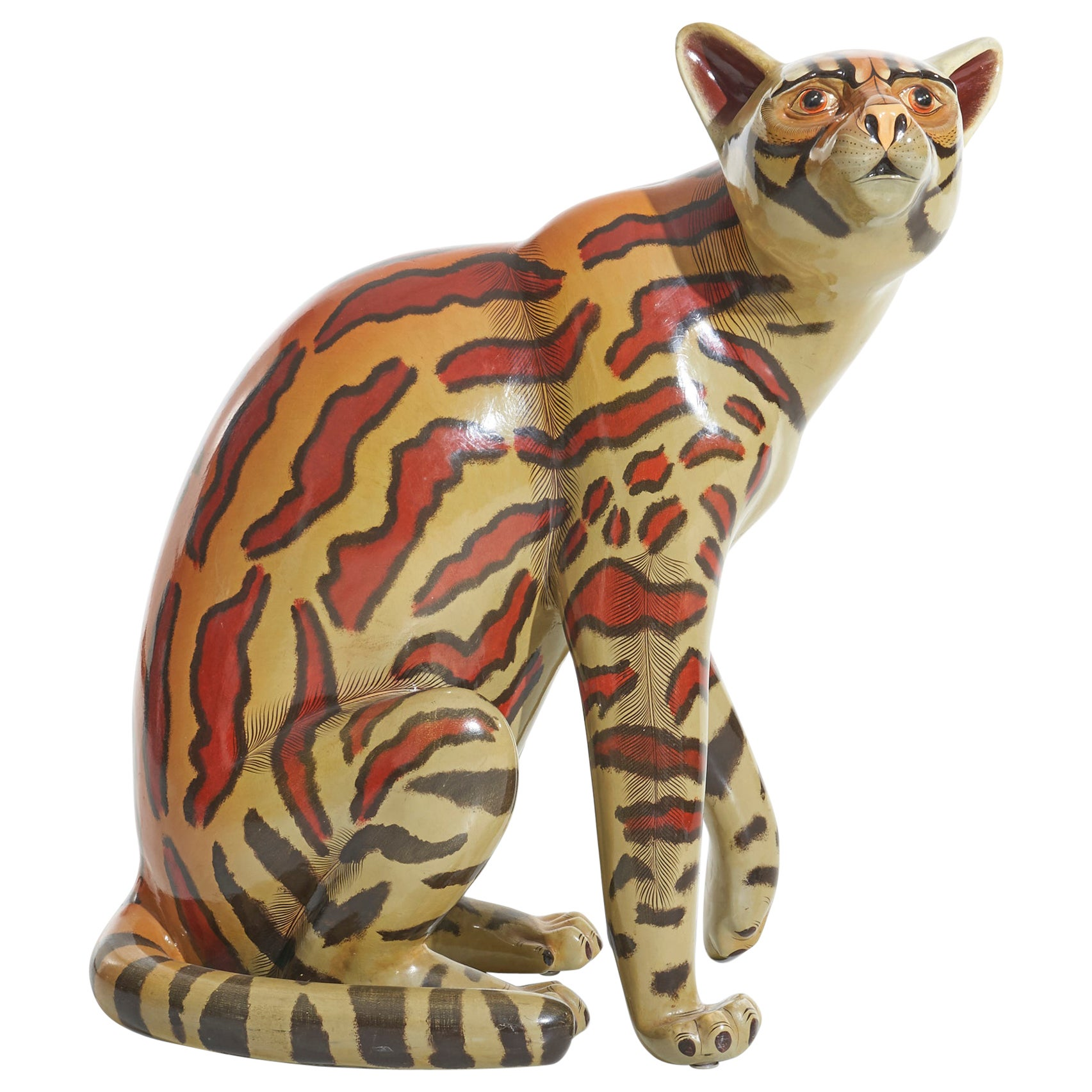 Sergio Bustamante Jaguar Sculpture