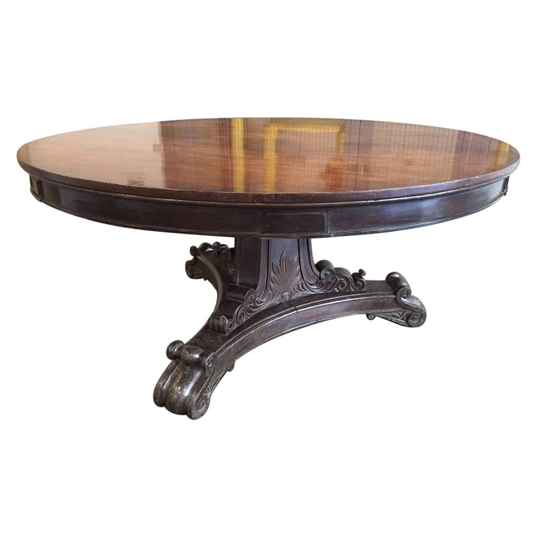 19th Century Mahogany Regency Style Table