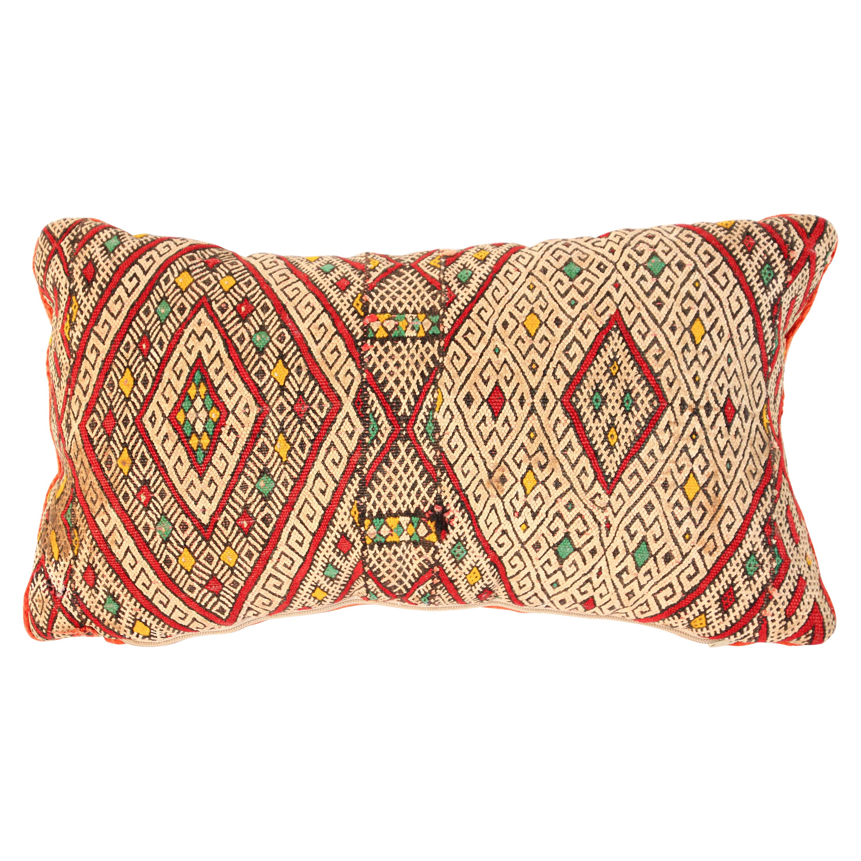 Moroccan Handwoven Tribal Berber Throw Pillow