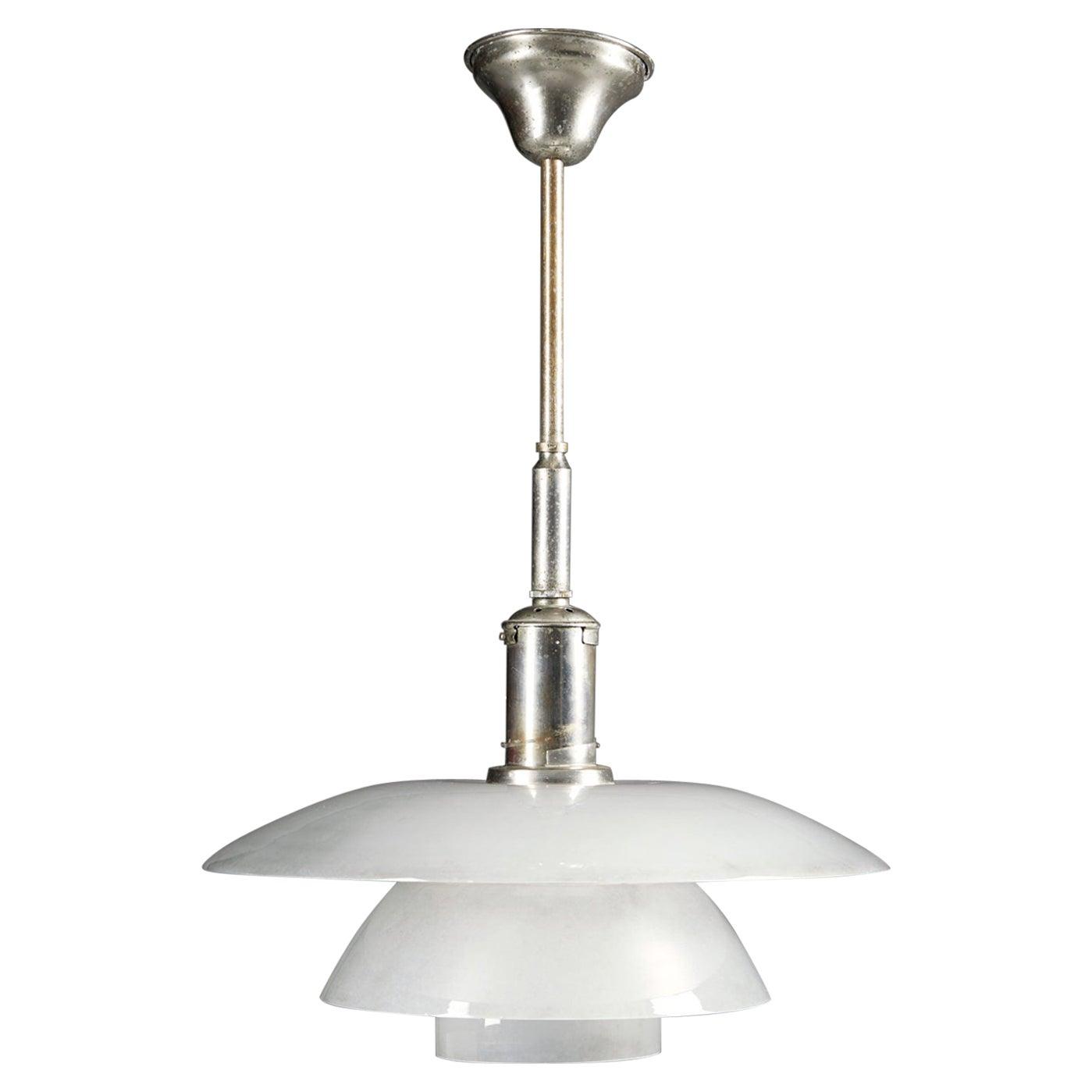 Ceiling Lamp PH 4/4 Designed by Poul Henningsen for Louis Poulsen, Denmark, 1930