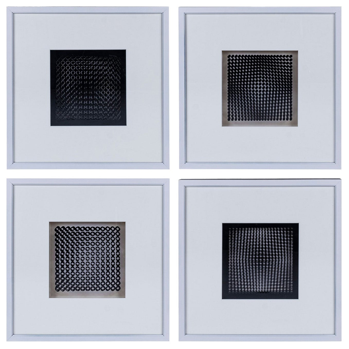 Four Vasarely Prints, Oeuvres Profondes