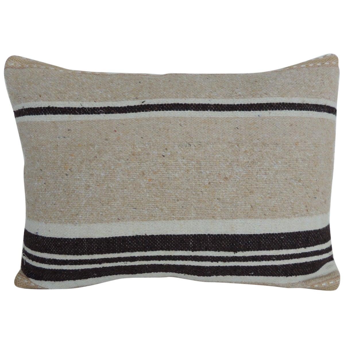 Vintage Woven Tribal Artisanal Textile Decorative Bolster Pillow