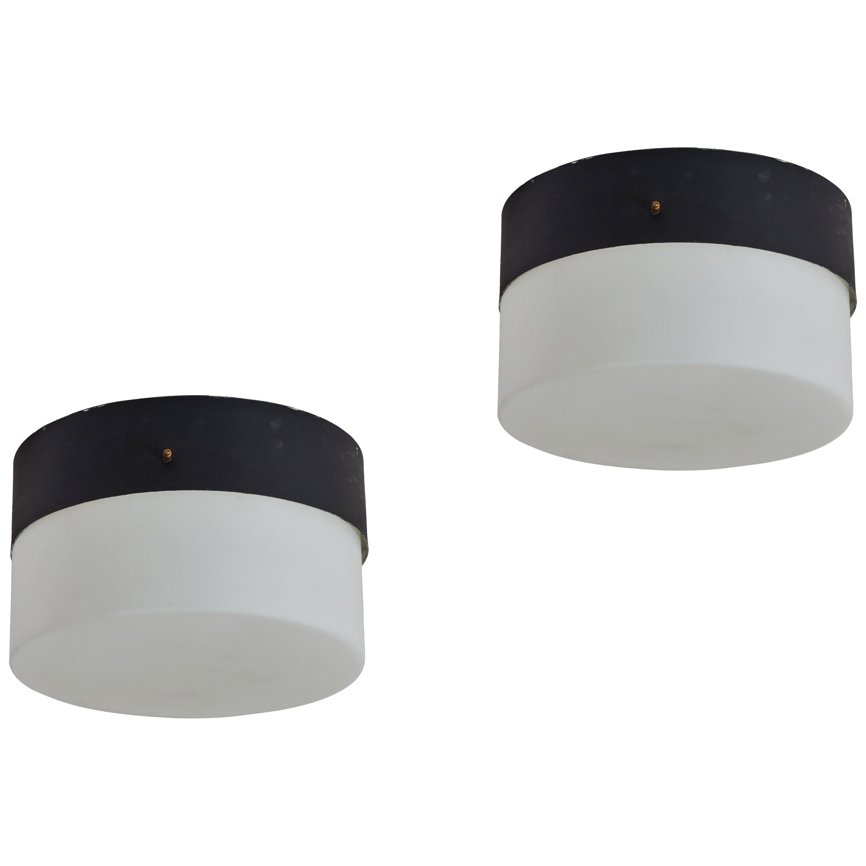 Two Flushmount Ceiling Lights by Stilnovo