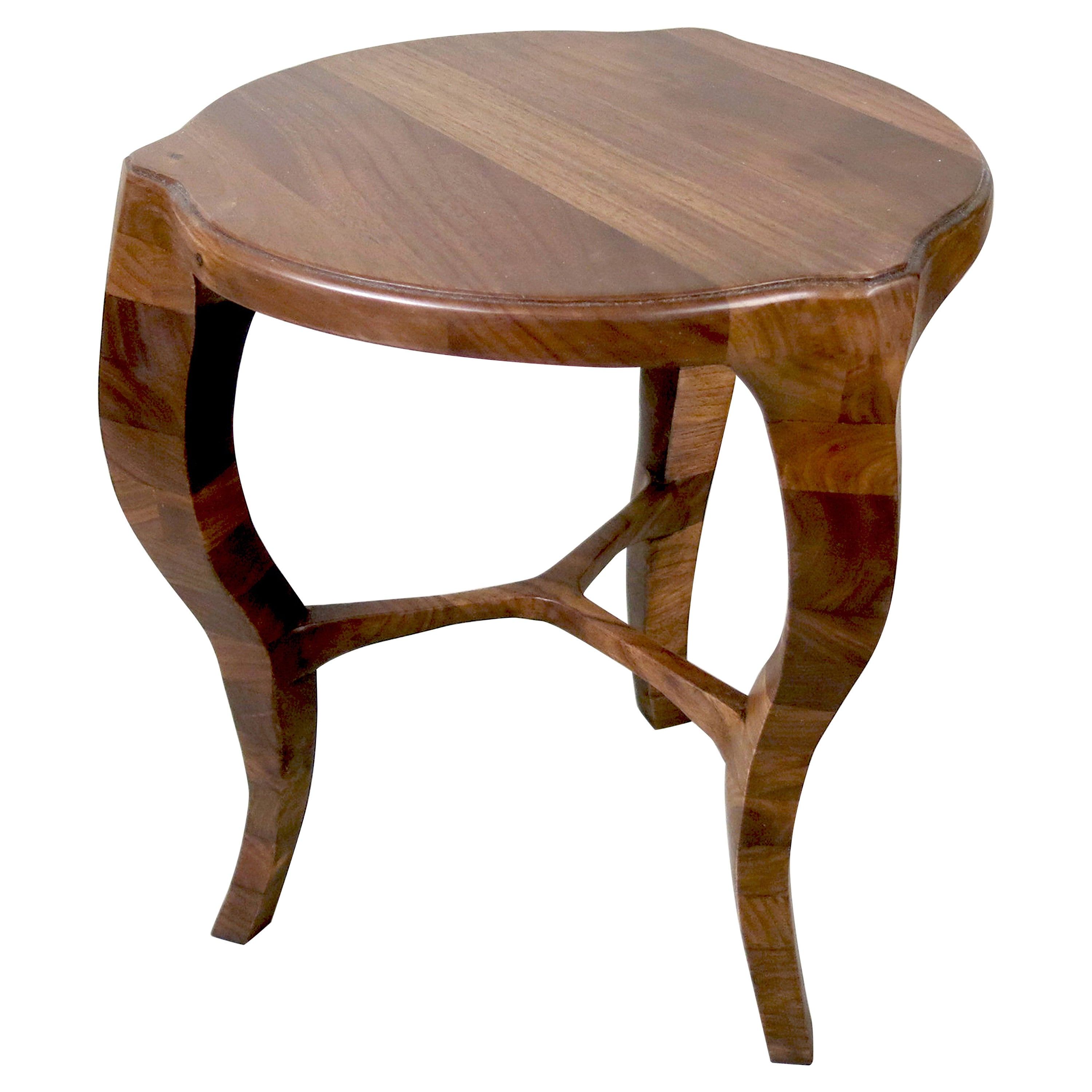 LXV Occasional Table, Handcrafted in Solid Wood with S-Curve Legs