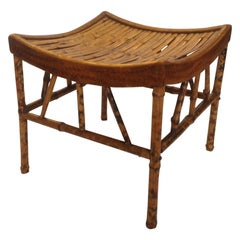 "19th Century English Bamboo ""Thebes"" Bench"