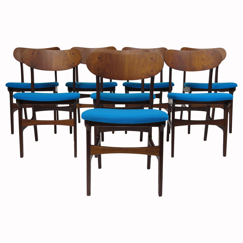 Set of 8 Danish Teak Dining Chairs