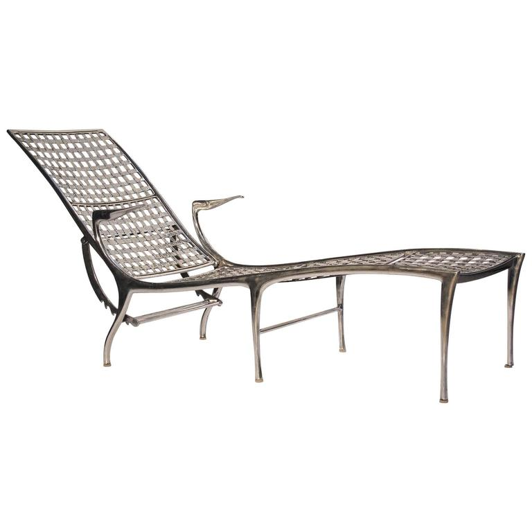 Dan johnson gazelle adjustable chaise at 1stdibs for Brown jordan chaise lounge