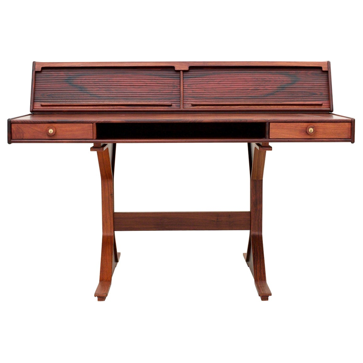 Rosewood Writing Desk by Gianfranco Frattini for Bernini, Italy, 1956