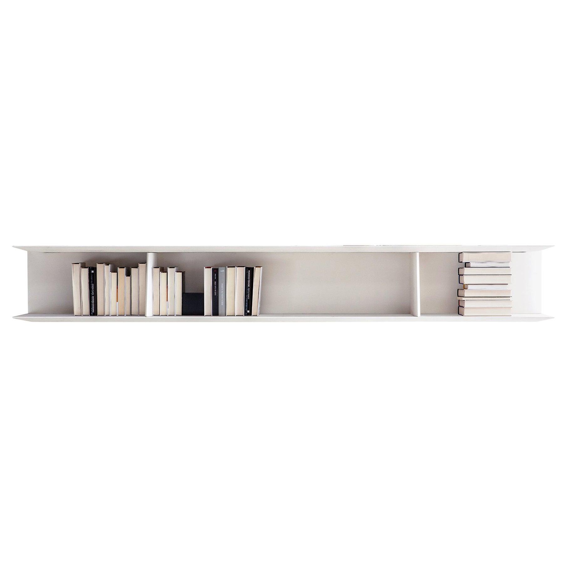 Molteni&C D.355.1 Large Suspended Bookcase Shelf in White by Gio Ponti