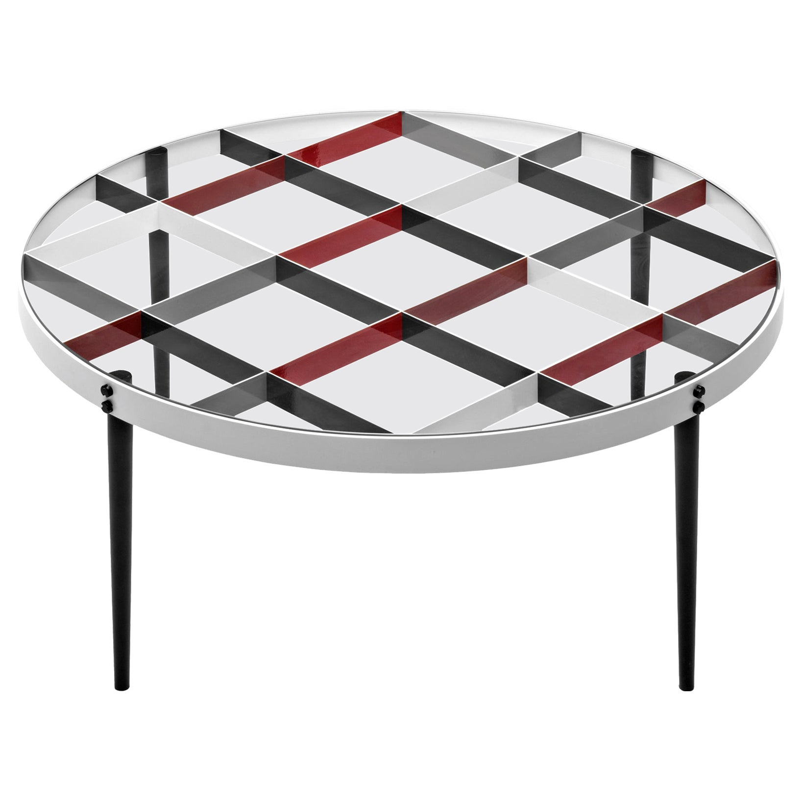 Molteni&C D.555.1 Small Coffee Table in Steel and Tempered Glass by Gio Ponti