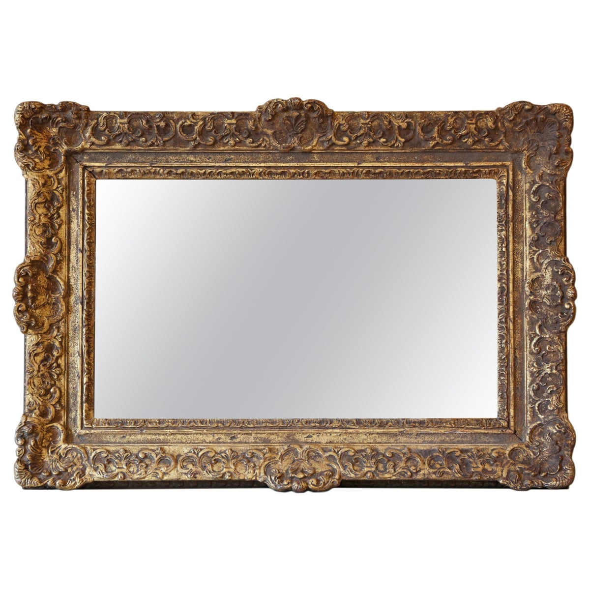 Antique Gilt Wall Mirror 19th Century Overmantle