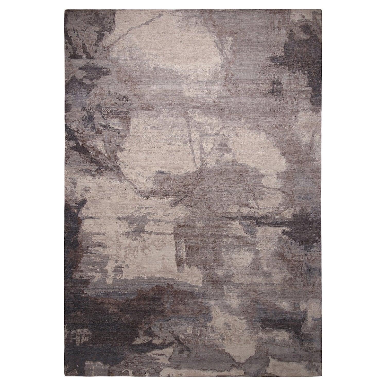 Rug & Kilim's Modern Silver Gray Wool Rug